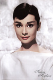 Audrey Hepburn (White) Movie Poster Print Posters