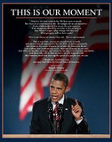 Barack Obama (This Is Our Moment) Art Poster Print Print