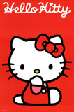 Hello Kitty Red Art Print Poster Prints