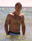 Daniel Craig In Water, James Bond, Movie Photo Print Poster Photo