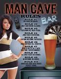 Man Cave Rules - Metal Tabela