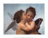 William Bouguereau - The First Kiss, Art Poster Print Reprodukcja arcydzieła