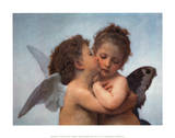 William Bouguereau - The First Kiss, Art Poster Print Masterprint