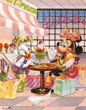 Minnie Mouse and Daisy Duck Ice Cream Parlour Prints