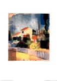 La casa luminosa Pósters por Auguste Macke