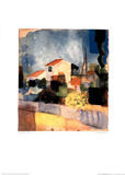 The Bright House Print by Auguste Macke