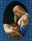 Madonna and Child (Baby Jesus) Art Poster Print Reprodukcje