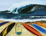 Surfing Wait Your Turn Plaque en métal