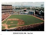 Ira Rosen New York Mets Pennant Fever Shea Stadium 1986 Sports Poster Print Posters