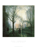 Plaza (After The Rain) Prints by Paul Cornoyer