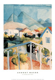 St Germain Bei Tunis Prints by Auguste Macke