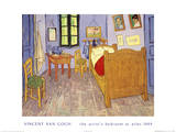 Bedroom Print by Vincent van Gogh
