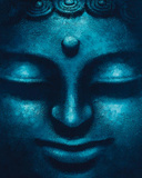 Blue Buddha (Face) Art Poster Print Prints