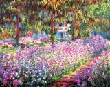 Taiteilijan puutarha Givernyssä, n.1900 Juliste tekijänä Claude Monet