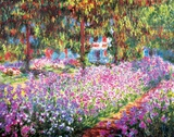 The Artist's Garden at Giverny, c.1900 Poster by Claude Monet
