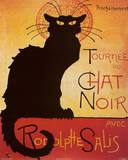 Theophile Steinlen Tournee du Chat Noir Avec Rodolphe Salis Art Print Poster Pster