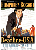 COLLECTABLE Deadline USA MOVIE POSTER Humphrey Bogart Poster