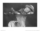 Boy Sleeping in Tuba Art Print Poster Masterprint