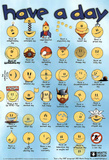 Have a Day Smiley Faces Art Print Poster Masterprint