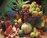 Frutta Fresca (Fresh Fruit Still Life) Art Poster Print Reprodukcje