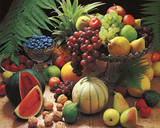 Frutta Fresca (Fresh Fruit Still Life) Art Poster Print Photo
