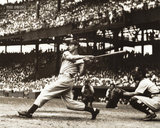 Joe Dimaggio The Swing Sports Poster Print Poster