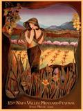 Jessel Miller Original 2008 Napa Valley Mustard Festival Art Print Poster Posters