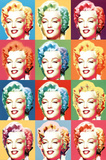 Visions of Marilyn Monroe Pop Art Print Poster Posters