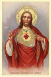 Sacred Heart of Jesus Christ POSTCARD religious RARE Prints