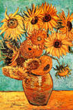Vincent Van Gogh Vase with Twelve Sunflowers Art Print Poster Plakater