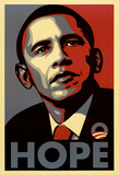 Barack Obama (Hope, Shepard Fairey Campaign) Art Poster Print Photographie