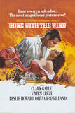 Gone with the Wind Movie Rhett Butler and Scarlett O'Hara Embrace Poster
