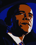 DecoBama (Art Deco Barack Obama) Art Poster Print Print