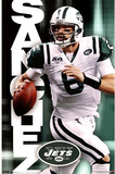 New York Jets Mark Sanchez with Football Sports Poster Print Plakater