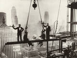 New York City Men on Girder High Life Lunch Above Manhattan Pôsters
