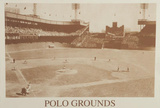 New York Polo Grounds Vintage B&W Photo Sports Poster Print Foto