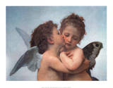 William Bouguereau (The First Kiss) Art Poster Print Pósters