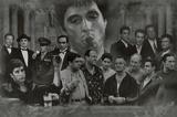 Mosaïque de gangsters: le Parain, Les Affranchis, Scarface, Les Sopranos – Affiche de films Affiche