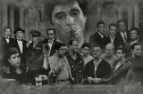 Gangsters Collage Godfather Goodfellas Scarface Sopranos Movie Poster Print Lámina
