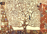 Gustav Klimt Tree of Life Gold Contrast Art Print Poster Posters