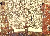 Gustav Klimt Tree of Life Gold Contrast Art Print Poster Posters