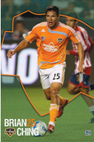 Houston Dynamo (Brian Ching) Sports Poster Print Prints