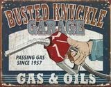 The Busted Knuckle Garage Passing Gas Tin Sign