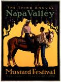 Dennis Ziemienski Original 1996 Napa Valley Mustard Festival Art Print Poster Posters
