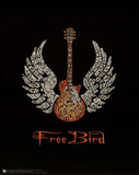 Free Bird (Guitar, Lyrics) Music Poster Print Print