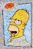 The Simpsons (Homer & Donut, Mosaic) TV Poster Print Posters