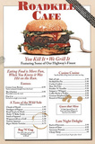 Roadkill Cafe Road Kill Menu Art Poster Print Posters