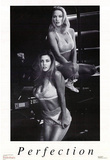 2 Sexy Women in Lingerie, Pefection, Photo Print Poster Photo