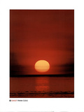 Sunset Over Lake Michigan Posters by Frank Cezus