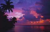 Maldive Mood (Tropical Sunset) Art Poster Print Posters